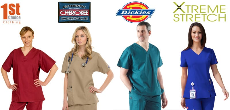 AWB Textiles sell Medical Uniforms and Workwear from 1st Choice, Cherokee, Dickies and Xtreme Stretch