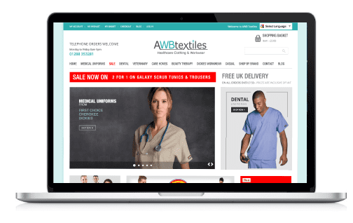 Our new AWB Textiles website showcase our healthcare clothing and workwear outfits
