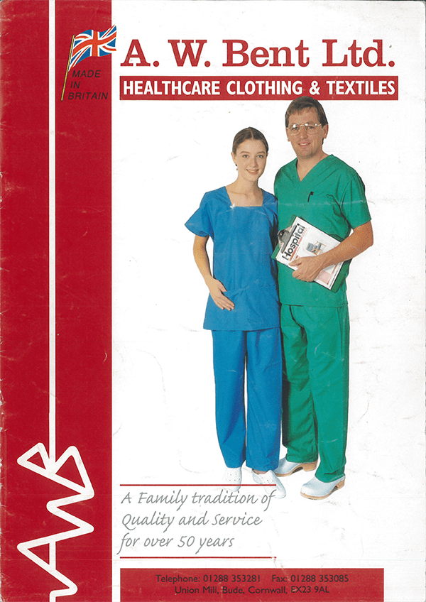 The cover of one of our 1980s clothing brochures
