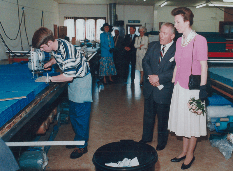 Princess Anne visits our clothing and textiles factory in Bude, Cornwall