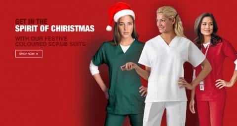 Our top three festive coloured medical scrubs