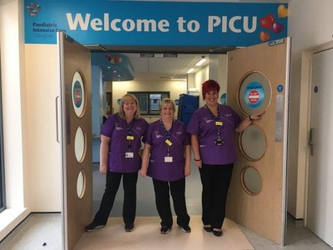 Glasgow's PICU team in their new medical uniforms