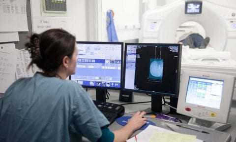Healthcare radiographer at work