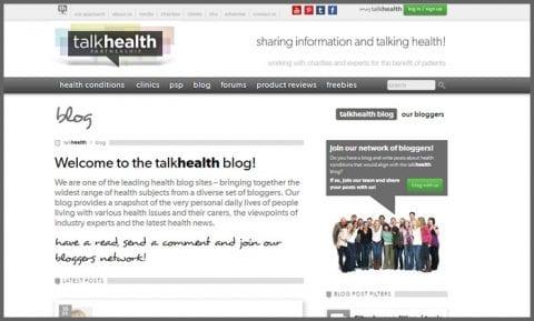 Talk Health, a leading healthcare blog