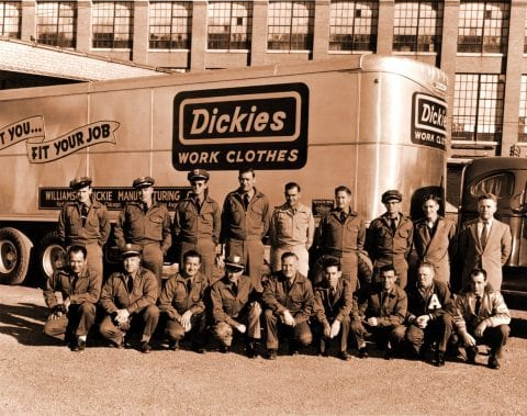 Old fashioned Dickies Workwear promotional photo