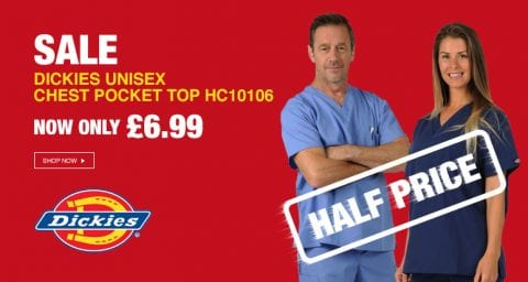 Our 10% off deal on Dickies healthcare tops