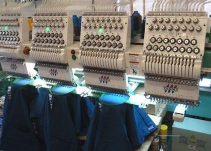 Four-head embroidery machine