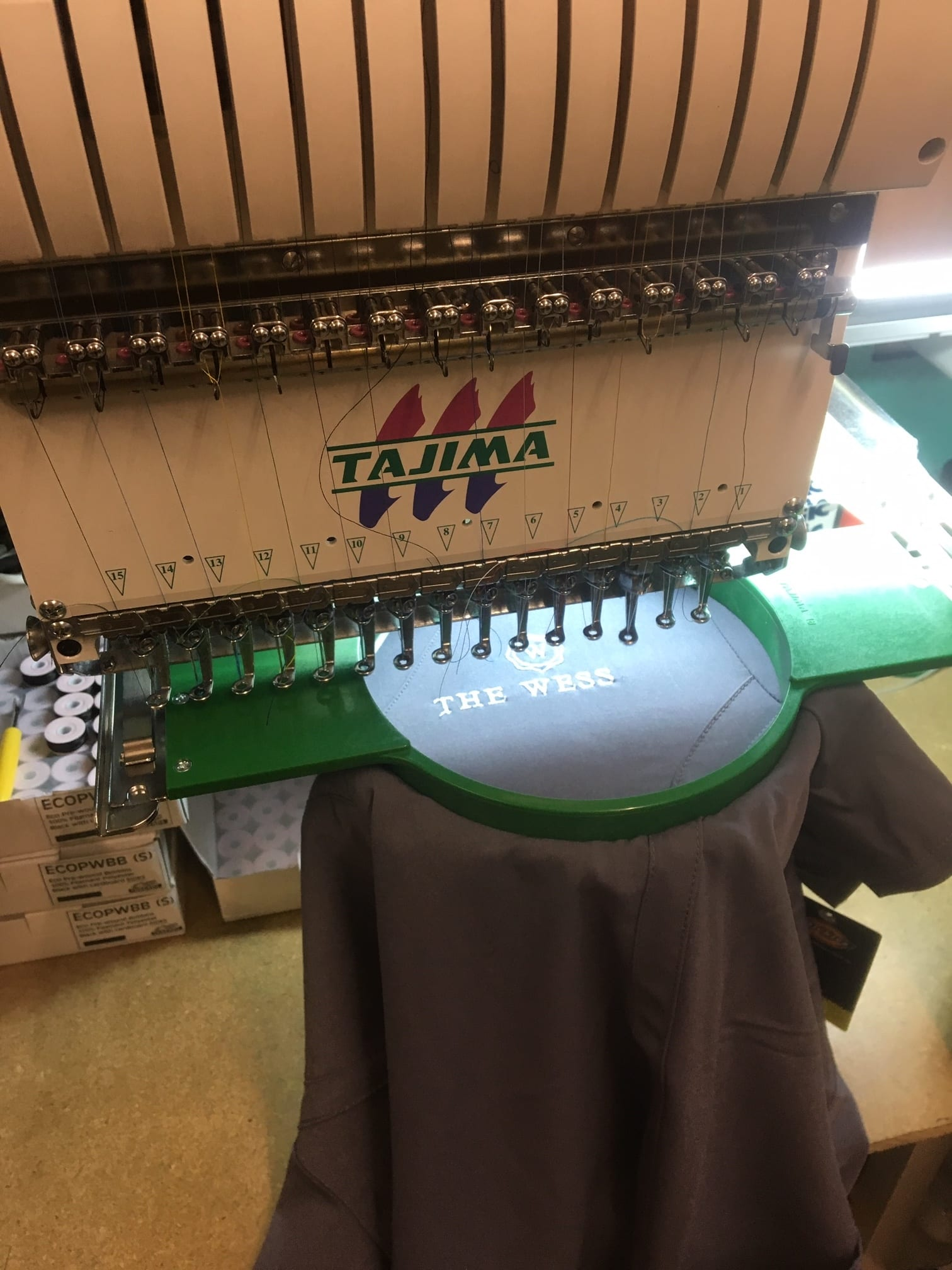 Embroidery in action