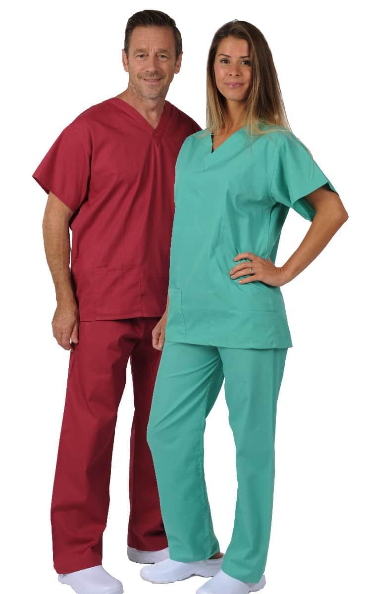 first choice v neck unisex scrub suit